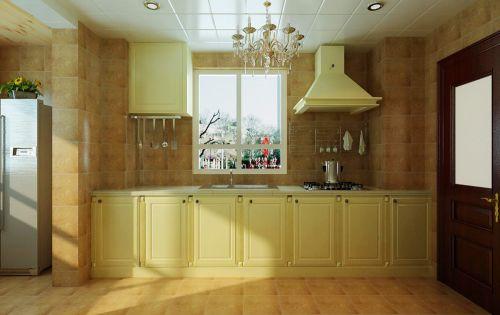 简欧风格三居室厨房组合柜装修效果图大全