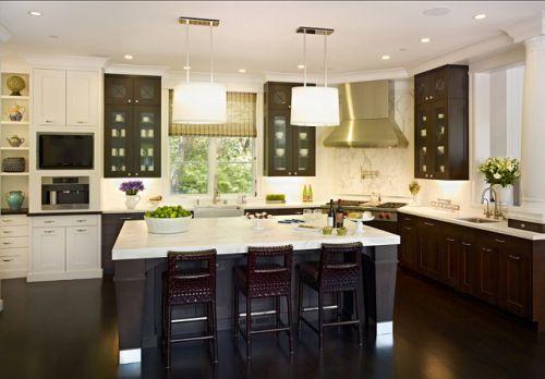 简欧风格五居室厨房装修效果图