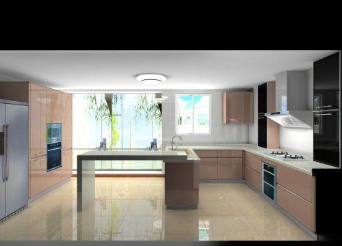 简欧风格三居室厨房装修图片