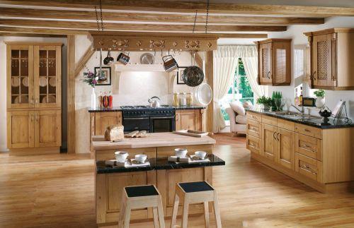 简欧风格室实木厨房效果图