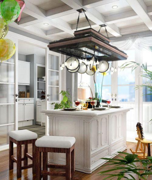 简欧家居整体厨房设计2014
