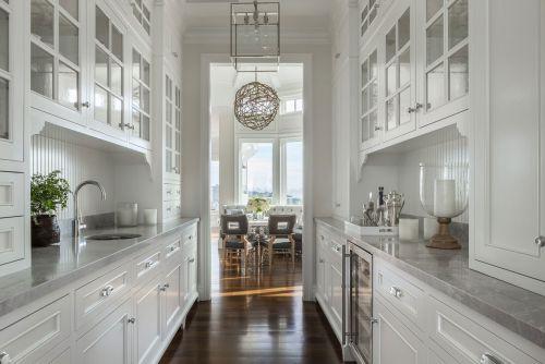 气质简欧风格白色厨房装修图片