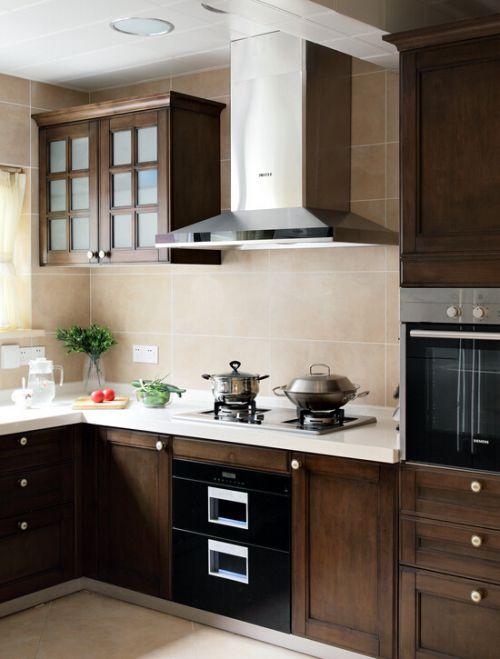 中式风格五居室厨房装修效果图