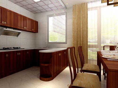 中式古典三居室厨房吊顶装修图片