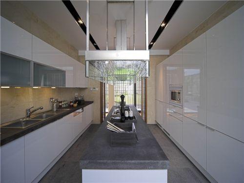中式风格二居室厨房灶台装修图片