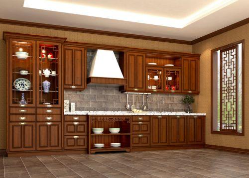 180平米四居室中式古典风格厨房装修效果图