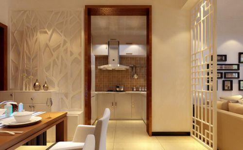 中式风格二居室厨房橱柜装修图片