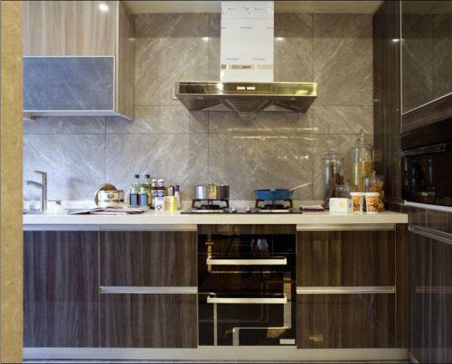 中式风格三居室厨房灶台装修效果图