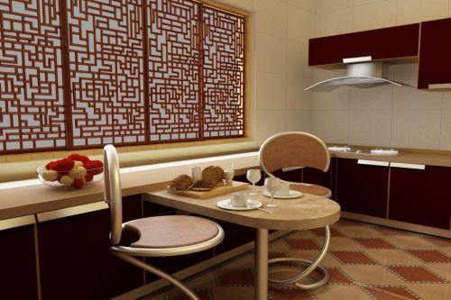 大气稳重中式古典风格厨房设计效果图