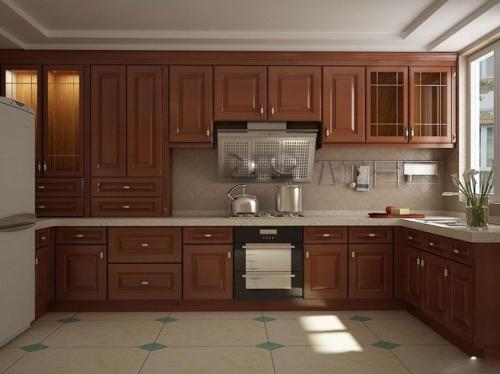 中式风格二居室厨房吧台装修效果图大全