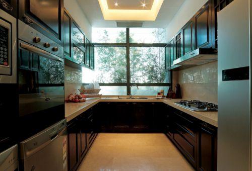中式风格六居室厨房吊顶装修效果图