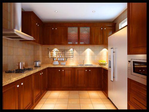 新中式别墅厨房橱柜装修效果图欣赏