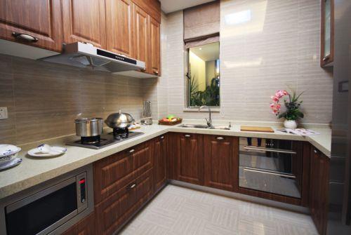 新中式风格四居室厨房装修效果图欣赏