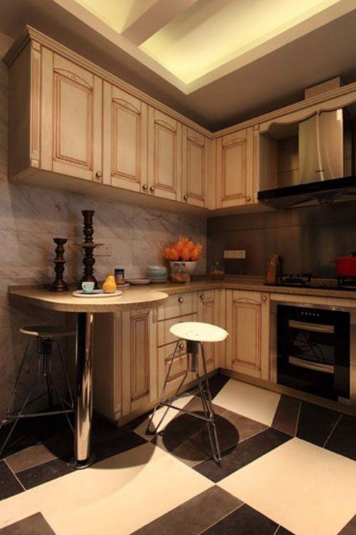 中式古典三居室厨房灯具装修效果图大全