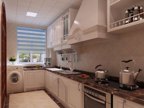 中式风格三居室厨房橱柜装修效果图大全