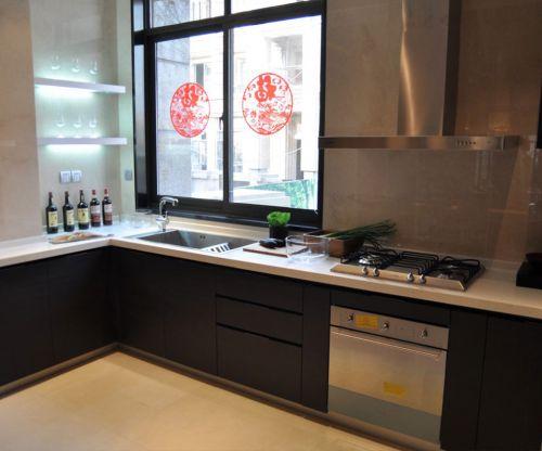 中式古典三居室厨房灯具装修效果图欣赏