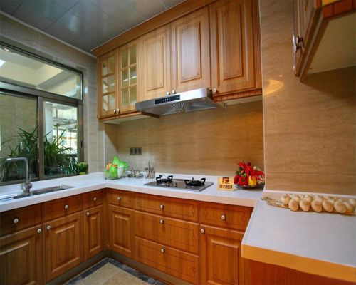 中式古典三居室厨房装修效果图欣赏