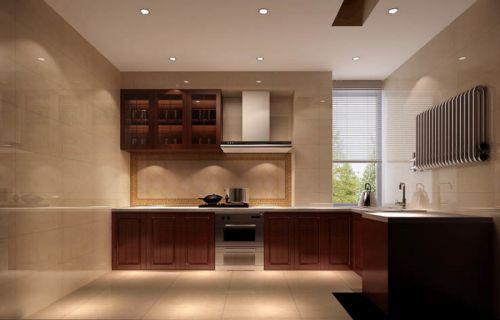 中式古典二居室厨房组合柜装修图片