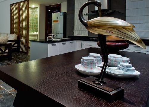 新中式 风格二居室厨房茶几装修效果图大全