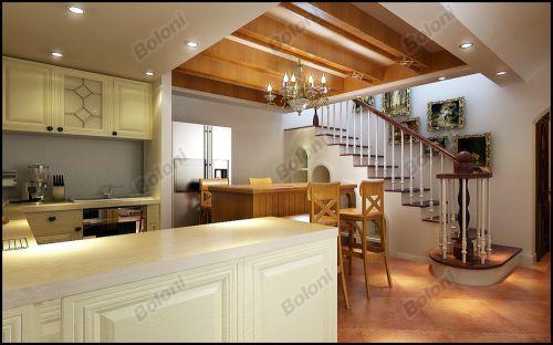 中式古典复式厨房装修效果图欣赏