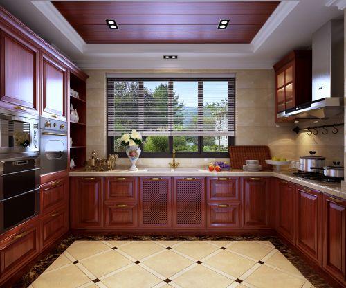 新中式三居室厨房装修效果图欣赏