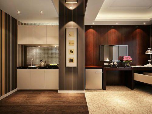 中式古典三居室厨房装修效果图大全