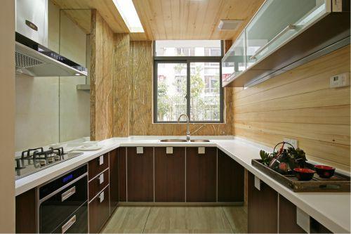 中式古典三居室厨房灶台装修效果图大全