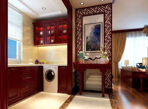 中式风格四居室厨房灯具装修效果图