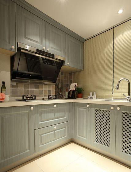 中式古典三居室厨房橱柜装修效果图大全