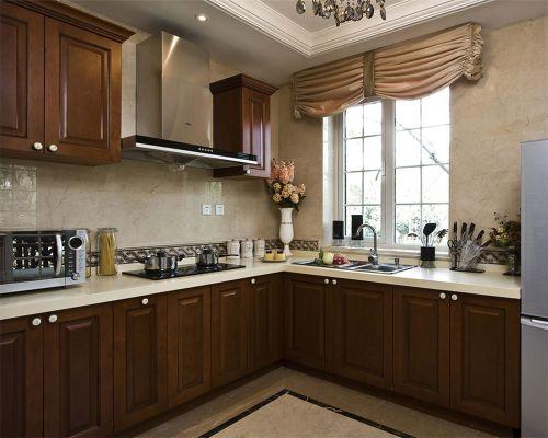 中式风格二居室厨房灯具装修效果图