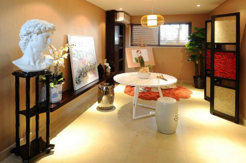 中式古典四居室厨房装修图片