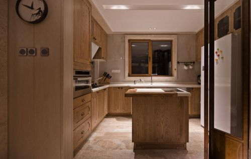 中式风格三居室厨房灯具装修效果图欣赏
