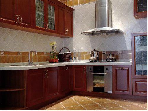 中式古典四居室厨房装修效果图大全