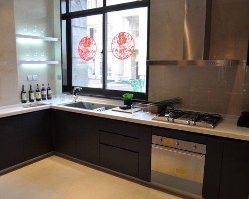 中式古典三居室厨房灶台装修图片