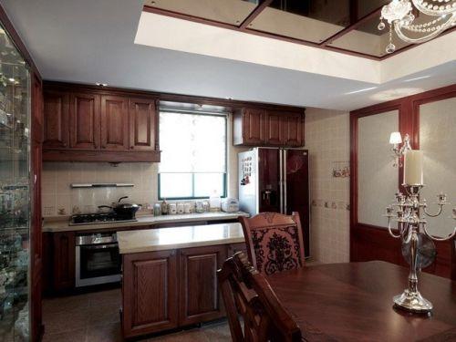 中式古典一居室厨房装修效果图欣赏
