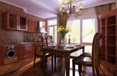 中式古典别墅厨房装修效果图大全