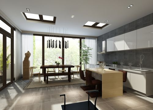 中式风格三居室厨房装修图片