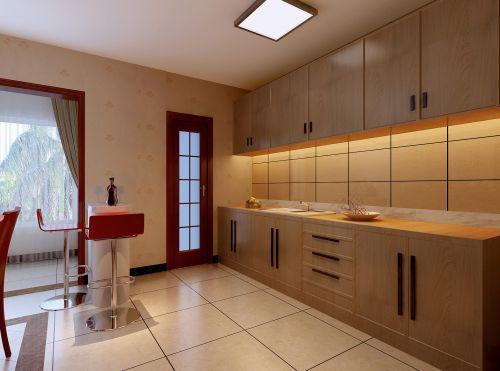 中式风格四居室厨房橱柜装修效果图欣赏
