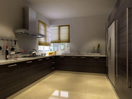 中式古典二居室厨房装修效果图