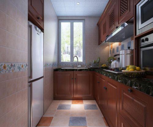 中式风格二居室厨房瓷砖装修图片