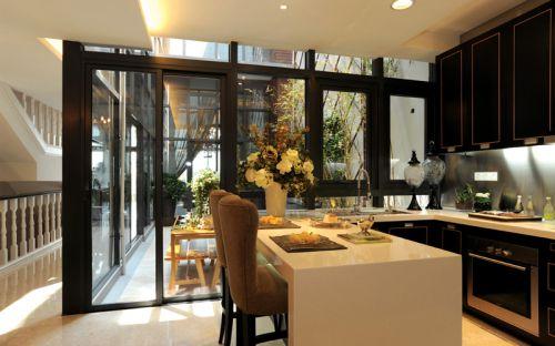 中式风格四居室厨房装修效果图欣赏
