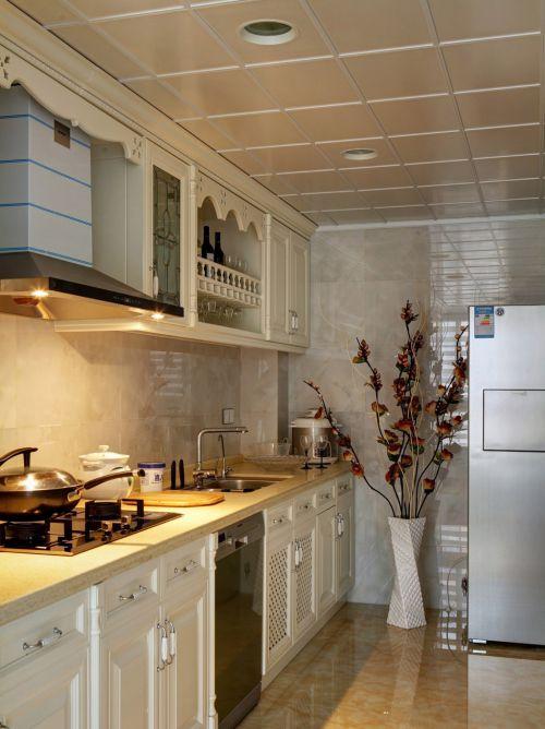中式风格三居室厨房装修效果图大全