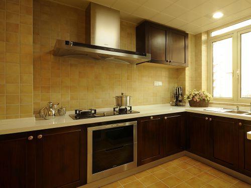 中式风格二居室厨房装修效果图欣赏