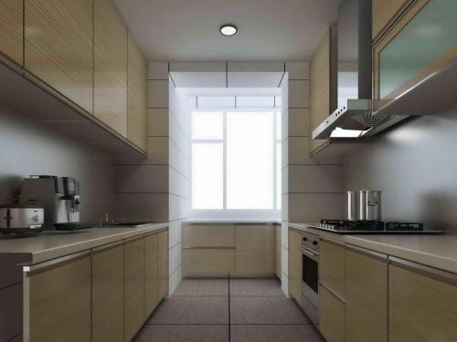 中式古典三居室厨房储物柜梳妆台装修效果图欣赏