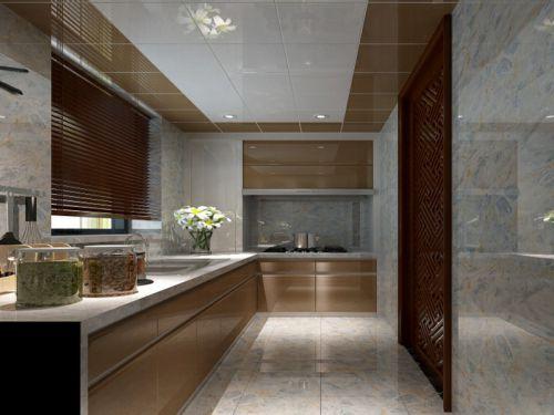 中式古典三居室厨房灯具装修图片
