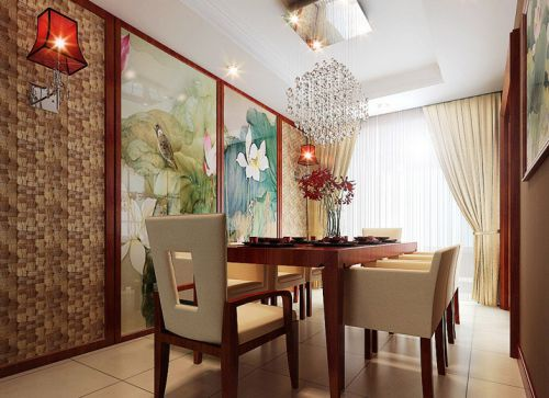中式风格三居室厨房隔断装修图片