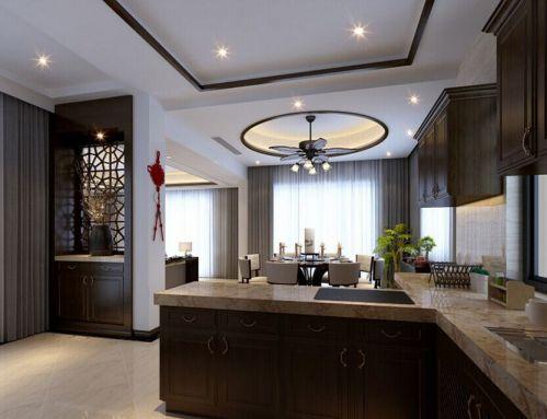 中式风格二居室厨房装修图片欣赏