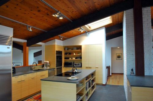 中式古典风格厨房红木吊顶装修效果图