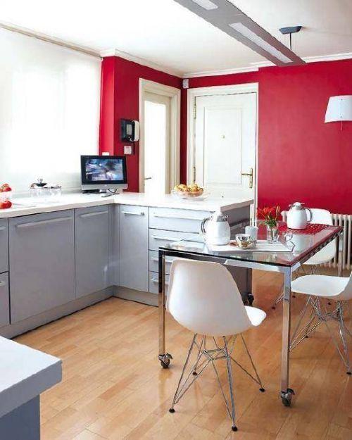 典雅中式混搭风格三居室厨房橱柜设计美图欣赏