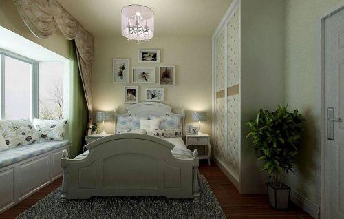 温馨小户型中式卧室吊顶背景墙效果图欣赏